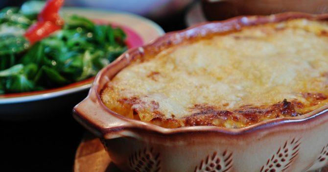 Французский тиан из овощей под сырным соусом