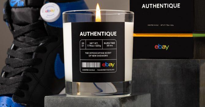 На eBay появилась свечка с ароматом кроссовок