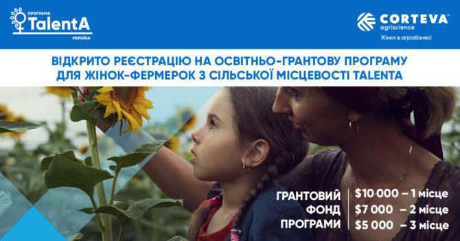 Женщины-фермеры могут зарегистрироваться на образовательно-грантовую программу TalentA-2021