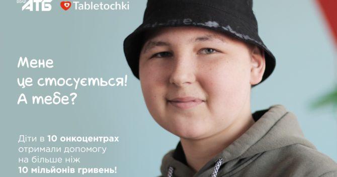Більше 10 мільйонів гривень допомоги зібрали українці, аби діти в 10 онкоцентрах України отримали життєво необхідні ліки