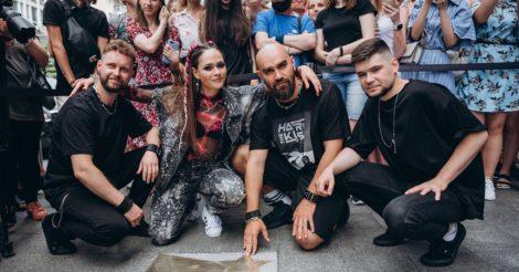 Группа THE HARDKISS получила звезду на «Площади звезд» в Киеве