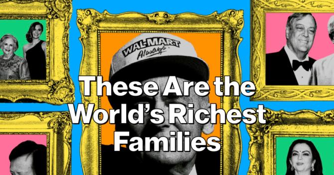 Агенство Bloomberg составило рейтинг самых богатых семей в мире
